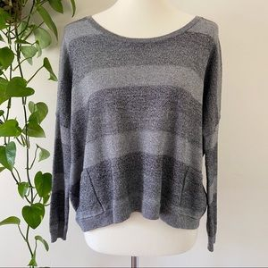 Theory Aprily Colorblock Lustrous Wool Sweater